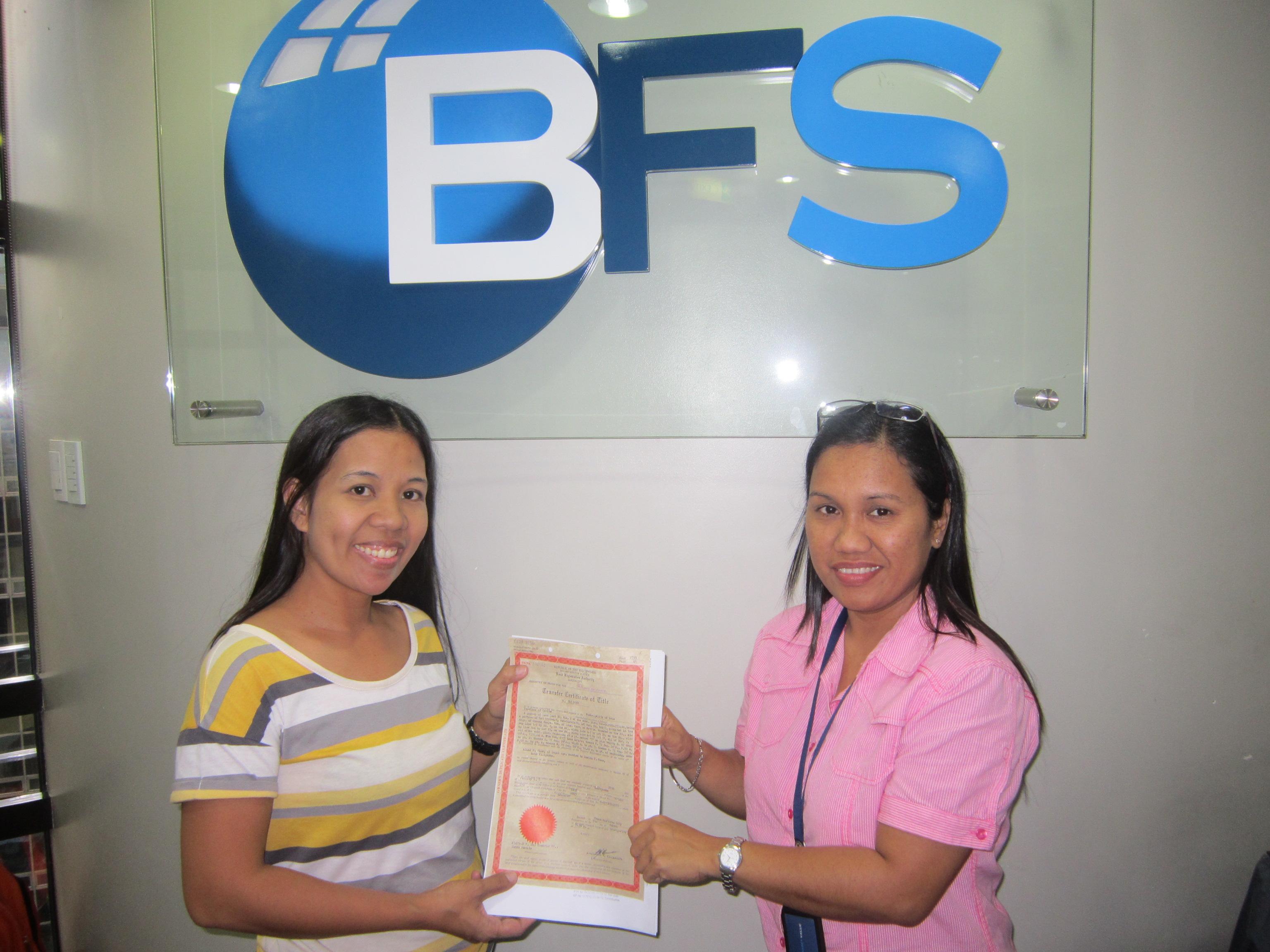 Pagtulong ng BFS sa mga Borrowers ng Cavite at Laguna